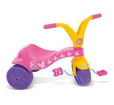 0779.8 - Triciclo Borboletinha | Super resitente, fabricado em plástico injetado, vêm com adesivos para a criançada decorar seu triciclo como quiser. | Faixa Etária: +2 anos | Medidas: 57,5 cm | Triciclos | Xalingo Brinquedos | Crianças