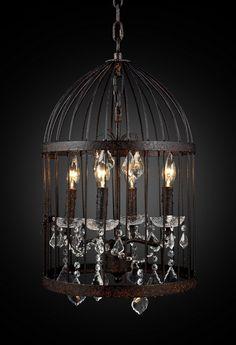 Lucretia vintage birdcage chandelier