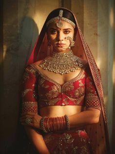 Sabyasachi Lehenga Bridal, Indian Bridal Lehenga, Red Lehenga, Lehenga Blouse, Lehenga Designs, Sabyasachi Bridal Collection, Fashion Models, Fashion Styles, Best Blouse Designs