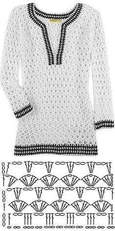 Fabulous Crochet a Little Black Crochet Dress Ideas. Georgeous Crochet a Little Black Crochet Dress Ideas. Pull Crochet, Gilet Crochet, Mode Crochet, Crochet Jacket, Freeform Crochet, Crochet Diagram, Black Crochet Dress, Crochet Cardigan, Knit Crochet