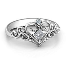 10K White Gold Fairytale Princess Tiara Ring #jewlr