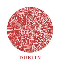 Dublin Map Print City Map Poster by OMaps on Etsy