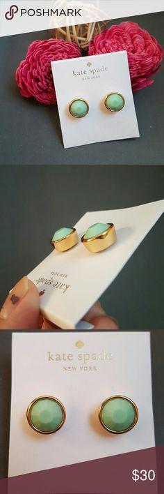 Kate Spade Mint Gumdrop Earrings As pictured- dust bag included kate spade Jewelry Earrings