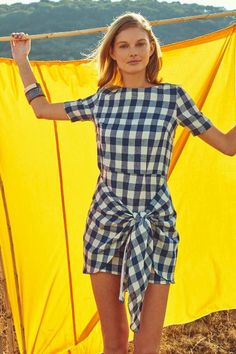 Dropwaist Gingham Dress by Atelier Delphine