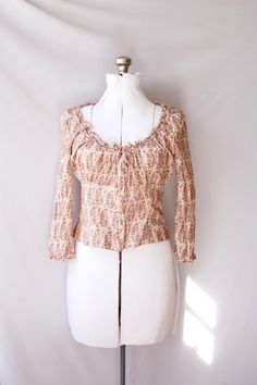Anna Sui   Peasant  Blouse Vintage Boho Fashion. $45.00, via Etsy.