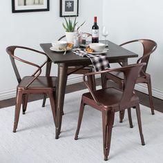 Vintage Metal Dining Chairs Set Rustic Industrial Kitchen Dinner Island Antique  #Tabour #vintageindustrialcountryrusticantique