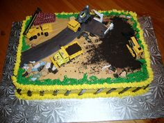 construction site cakes - Google Search