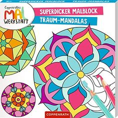 Superdicker Malblock: Traum-Mandalas (Coppenraths Mal-Werkstatt) #Traum, #Malblock, #Superdicker, #Mandalas Handmade Gifts For Friends, Easy Handmade Gifts, Handmade Crafts, Free Books, Trauma, Book Worms, Horror, Baby, Paper Crafts