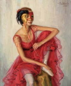 Dancer with a mask