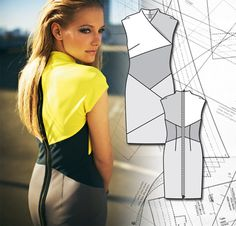 Sewing Lesson: Diagonal Lines Dress 117 02/2012 @Rebecca Noran yellow dress?