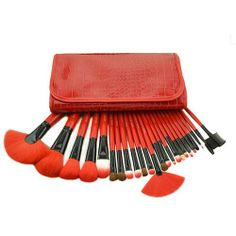 Beauty Makeup Brushes Cosmetic 24pcs Set with Case for big sale!