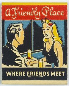 """Vintage #MatchBook Dal's Grill & Lou's Lunch 20 Stem #Frontstriker """"Stock Cut"""" image"""