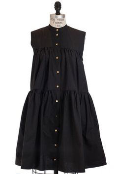 Co Buttoned Tiered Dress Shop This Look at: www.shopserafina.com