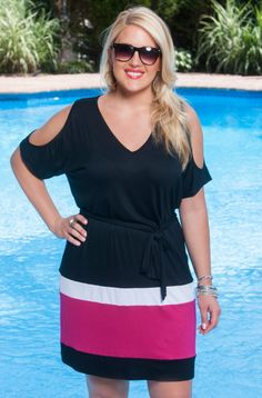 Comfortable, stylish and designed exclusively for Always For Me.  This Color block plus size Tunic is a must have. Here at Always For Me when our customers talk, we listen. We've taken all of their
