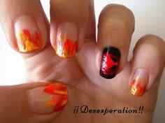 En llamas - Diseño de uñas / Catching fire nails