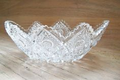 Cut Glass Bowl Oval Special Occasion Gift by YoursOccasionally, $95.00