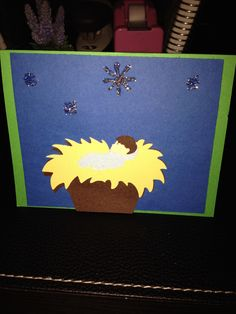 Baby Jesus Christmas card- Cricut cartridge: A Quilted Christmas.