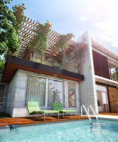 طراحی ویلای مدرن گروه معماری هانی رضایی 09121447543