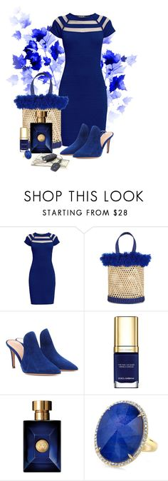 """""""Untitled #2963"""" by cardigurl ❤ liked on Polyvore featuring Rumour London, Nannacay, Gianvito Rossi, Dolce&Gabbana and Versace"""