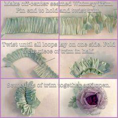 Free How-To make Whimsy Flower leaves for ribbon flowers! from Kari Mecca of Kari Me Away