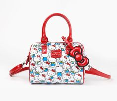 Hello Kitty Embossed Satchel: Vintage