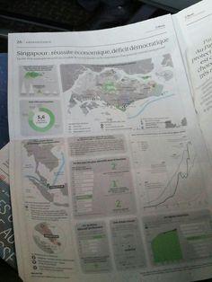"""Dans """"Le Monde"""" d'aujourd'hui, tableau de bord de Singapour. Économie, place stratégique, autoritarisme. #infographic #map Personal Portfolio, Info, Me On A Map, Hui, Graphic, Place, Maps, Bullet Journal, Personalized Items"""