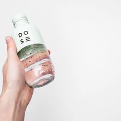 Dose bottle & label packaging by Nora Kaszanyi Beverage Packaging, Bottle Packaging, Brand Packaging, Coffee Packaging, Product Packaging, Food Packaging, Perfume Packaging, Design Package, Label Design