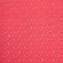 Italian Red Coral Cotton Eyelet