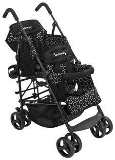 Kinderwagon Hop Tandem Stroller - Black - http://activelivingessentials.com/baby-essentials/strollers/kinderwagon-hop-tandem-stroller-black