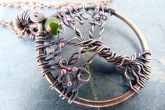 Anahata Foliage  Celtic Tree of Life Wire Wrapped by SkyAndBeyond