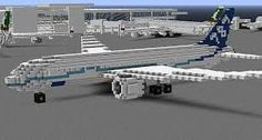A Photograph Of A Plane In The Airport On The Esterlon Sever Taken - Minecraft moderne hauser plane