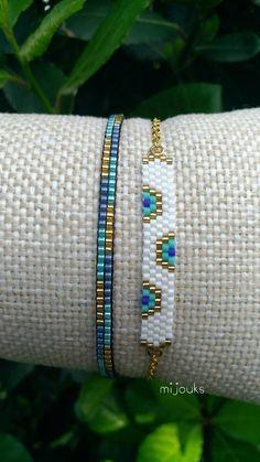 Miyuki bracelet,evil eye bracelet,beaded… - Top Of The World Dainty Bracelets, Dainty Jewelry, Beaded Jewelry, Handmade Jewelry, Colorful Bracelets, Jewelry Bracelets, Silver Jewelry, Handmade Beads, Diamond Bracelets