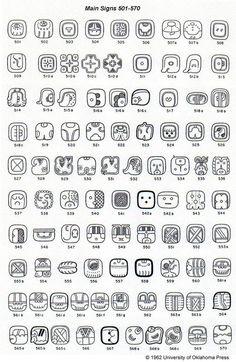 Eric S. Thompson, Catalog of Maya Hieroglyphs Mayan Glyphs, Mayan Symbols, Viking Symbols, Egyptian Symbols, Ancient Symbols, Viking Runes, Alphabet Symbols, Alphabet Design, Henna Designs