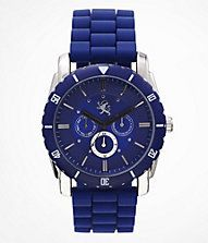 MULTI-FUNCTION SILICONE STRAP WATCH - BLUE
