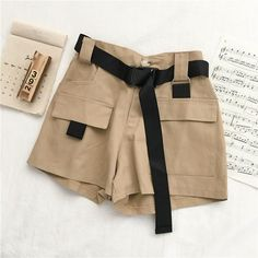 Summer Shorts Outfits, Short Outfits, Cargo Pants Women, Pants For Women, Nylons, Korean Summer, Summer Outfits Korean, Streetwear Shorts, Short Court