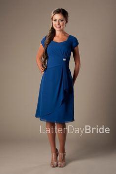af7aa3f264 knee length modest dresses for bridesmaids