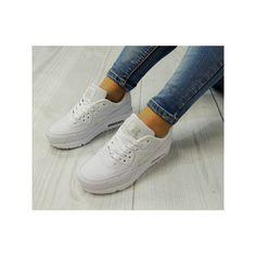Stylové sportovní boty bílé pro dámy