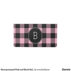 Lumberjack Plaid Vinyl Checkbook Cover Personalized