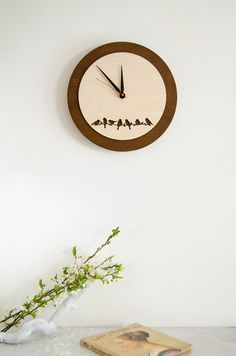 Perfect idea as Wedding gift, Love Bird Clock Wooden Wall by MustHaveGift