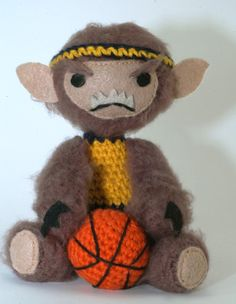 Crochet Teen Wolf, complete with basketball!