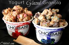 ~Yogurt Glazed Granola..and a Chobani GIVEAWAY!
