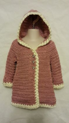 #Crochet Baby Coat Jacket #TUTORIAL