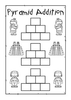 math worksheet : 1000 images about my worksheets and clip art on pinterest  cut  : Addition Pyramid Worksheets