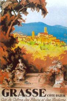 Affiches  Grasse Côte d'Azur * Ville majeure du moyen-pays de la Côte d'Azur située à 12 km au nord de Cannes sur la Côte Méditerranéenne.  #Alpes-Maritimes #Provence-Alpes-Côte d'Azur  #Grasse