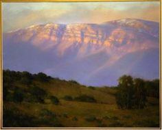 """""""Topa Topa Bluffs"""" - Pastel by Bert Collins, one of the founders of the Ojai Studio Tour. Collection of the Ojai Valley Museum."""