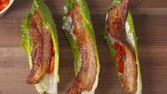 Looking for a low-carb BLT recipe? These No Bread BLTs are the best. Blt Recipes, Paleo Recipes, Low Carb Recipes, Cooking Recipes, Recipies, Cooking Videos, Keto Foods, Keto Meal, Low Carb Lunch
