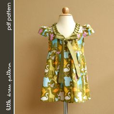 Stella Dress - PDF Pattern - Size 12 months to 8 years old and tutorial.. $6.00, via Etsy.