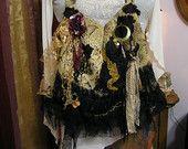Bohemian Gypsy Bag shoulder bag cross over body bag red velvet upholstery chenille crossover strap. $150.00, via Etsy.