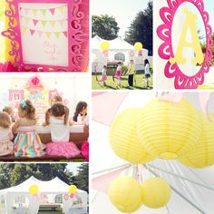 yellow and pink party