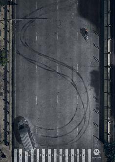 Motorola: Tire marks, 1 | Ads of the World™